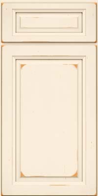 Square Raised Panel - Solid (PK) Cherry in Vintage Canvas - Base