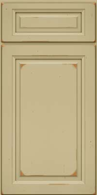 Square Raised Panel - Solid (PK) Cherry in Vintage Willow - Base