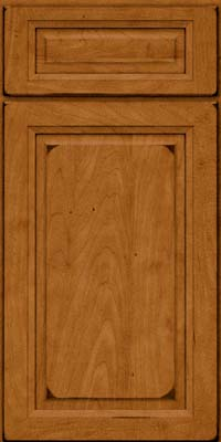 Square Raised Panel - Solid (PKM) Maple in Burnished Golden Lager - Base