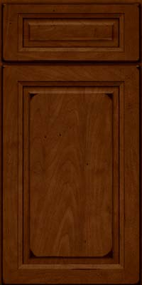 Square Raised Panel - Solid (PKM) Maple in Burnished Chestnut - Base