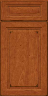 Square Raised Panel - Solid (PKM) Maple in Burnished Cinnamon - Base
