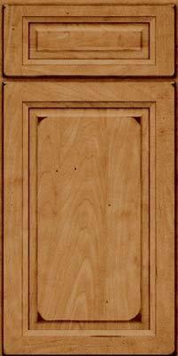 Square Raised Panel - Solid (PKM) Maple in Burnished Ginger - Base