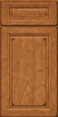 Square Raised Panel - Solid (PKM) Maple in Burnished Praline - Base