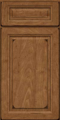 Square Raised Panel - Solid (PKM) Maple in Burnished Rye - Base