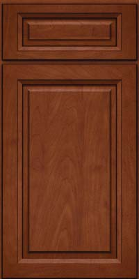 Square Raised Panel - Solid (PKM) Maple in Chestnut w/Onyx Glaze - Base
