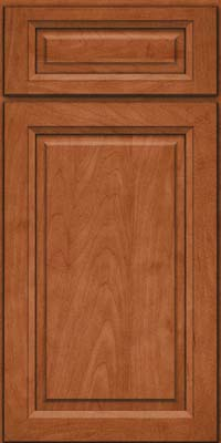 Square Raised Panel - Solid (PKM) Maple in Cinnamon - Base