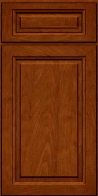 Square Raised Panel - Solid (PKM) Maple in Cinnamon w/Onyx Glaze - Base