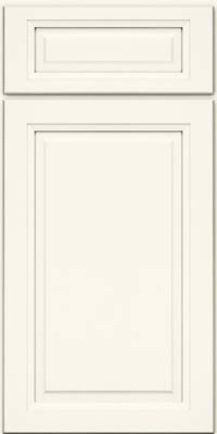 Square Raised Panel - Solid (PKM) Maple in Dove White - Base