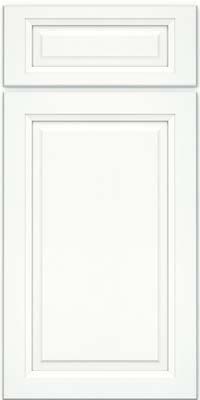 Square Raised Panel - Solid (PKM) Maple in Dove White w/ Cinder Glaze - Base