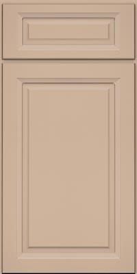 Square Raised Panel - Solid (PKM1) Maple in Mushroom w/Coconut Glaze - Base
