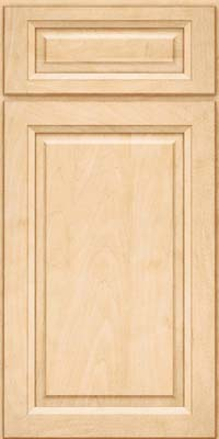 Square Raised Panel - Solid (PKM) Maple in Natural - Base