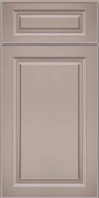 Square Raised Panel - Solid (PKM) Maple in Pebble Grey w/ Cocoa Glaze - Base