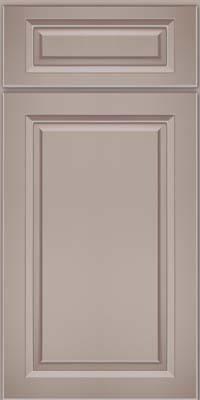 Square Raised Panel - Solid (PKM) Maple in Pebble Grey w/ Cocoa Glaze - Base