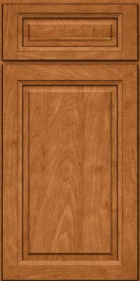 Square Raised Panel - Solid (PKM) Maple in Praline w/Mocha Highlight - Base