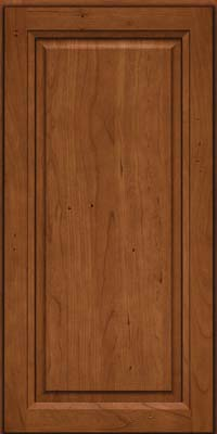 Square Raised Panel - Solid (PK) Cherry in Antique Chocolate w/Mocha Glaze - Wall