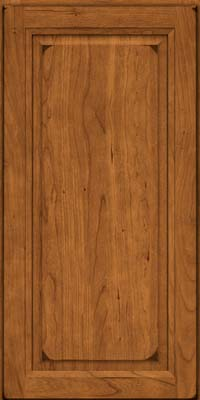 Square Raised Panel - Solid (PK) Cherry in Burnished Golden Lager - Wall