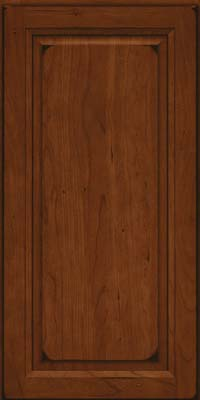 Square Raised Panel - Solid (PK) Cherry in Burnished Autumn Blush - Wall