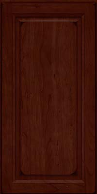 Square Raised Panel - Solid (PK) Cherry in Burnished Cabernet - Wall