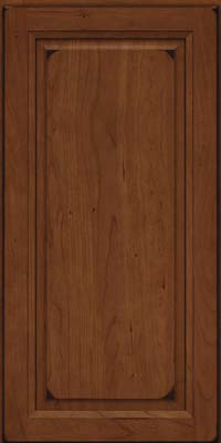 Square Raised Panel - Solid (PK) Cherry in Burnished Chocolate - Wall