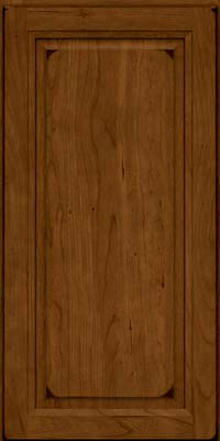 Square Raised Panel - Solid (PK) Cherry in Burnished Ginger - Wall