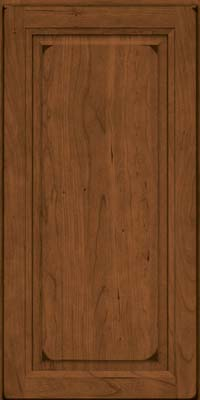 Square Raised Panel - Solid (PK) Cherry in Burnished Rye - Wall