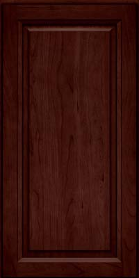 Square Raised Panel - Solid (PK) Cherry in Cabernet - Wall