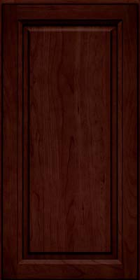 Square Raised Panel - Solid (PK) Cherry in Cabernet w/Onyx Glaze - Wall