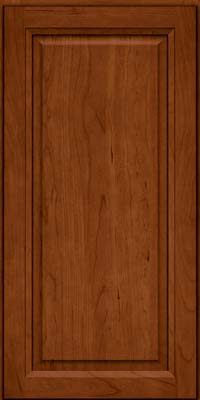 Square Raised Panel - Solid (PK) Cherry in Cinnamon - Wall