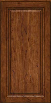 Square Raised Panel - Solid (PK) Cherry in Cognac - Wall