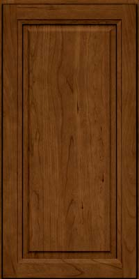Square Raised Panel - Solid (PK) Cherry in Ginger w/Sable Glaze - Wall