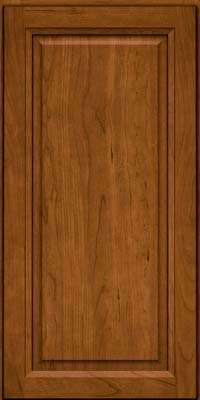 Square Raised Panel - Solid (PK) Cherry in Golden Lager - Wall