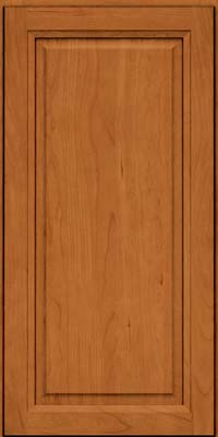 Square Raised Panel - Solid (PK) Cherry in Honey Spice - Wall