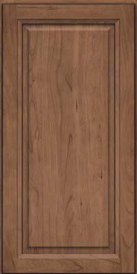 Square Raised Panel - Solid (PKC) Cherry in Husk Suede - Wall