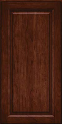 Square Raised Panel - Solid (PK) Cherry in Kaffe - Wall