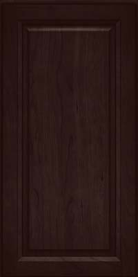 Square Raised Panel - Solid (PK) Cherry in Peppercorn - Wall