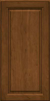 Square Raised Panel - Solid (PK) Cherry in Rye w/Onyx Glaze - Wall
