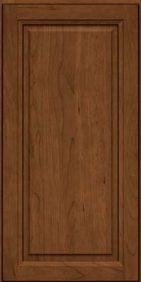 Square Raised Panel - Solid (PK) Cherry in Rye w/Sable Glaze - Wall