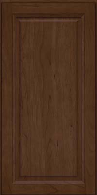 Square Raised Panel - Solid (PKC) Cherry in Saddle Suede - Wall
