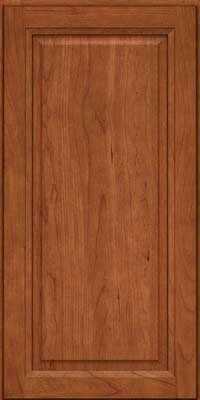 Square Raised Panel - Solid (PK) Cherry in Sunset - Wall