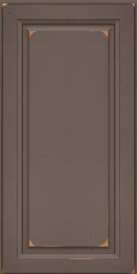 Square Raised Panel - Solid (PK) Cherry in Vintage Greyloft w/ Sable Patina - Wall
