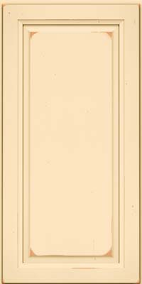 Square Raised Panel - Solid (PK) Cherry in Vintage Biscotti - Wall