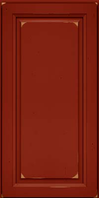 Square Raised Panel - Solid (PK) Cherry in Vintage Cardinal - Wall