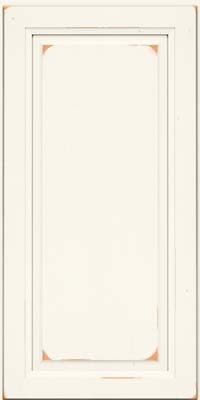 Square Raised Panel - Solid (PK) Cherry in Vintage Dove White - Wall