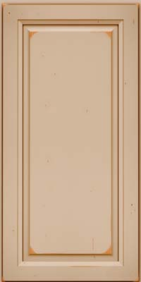 Square Raised Panel - Solid (PK) Cherry in Vintage Mushroom w/Cocoa Patina - Wall