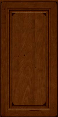 Square Raised Panel - Solid (PKM) Maple in Burnished Chestnut - Wall