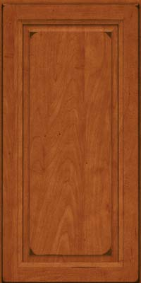 Square Raised Panel - Solid (PKM) Maple in Burnished Cinnamon - Wall