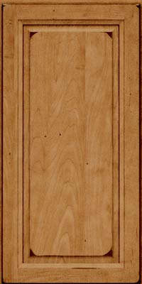 Square Raised Panel - Solid (PKM) Maple in Burnished Ginger - Wall