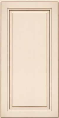 Square Raised Panel - Solid (PKM) Maple in Canvas w/Cocoa Glaze - Wall