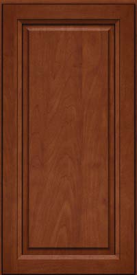 Square Raised Panel - Solid (PKM) Maple in Chestnut w/Onyx Glaze - Wall