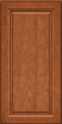 Square Raised Panel - Solid (PKM) Maple in Cinnamon - Wall